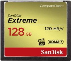 SanDisk Compact Flash Card 128 GB EXTREME