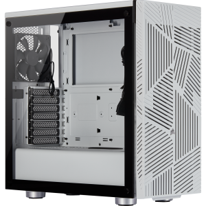 Corsair Casing 275R Airflow Tempered Glass Mid-Tower Gaming Case — White
