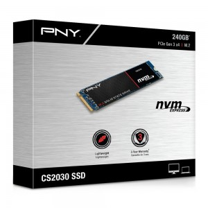 PNY M.2 PCIE CS2030, 240GB SOLID STATE DRIVE